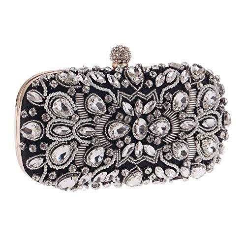 nero Party Evening sera Bags Wedding Nero Clutch da colore Borsette Beaded Purseh Bag Noble Claws Crystal 4U6q4