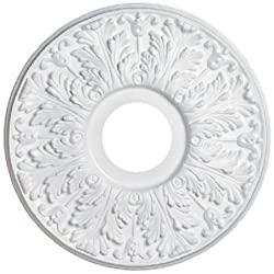 Westinghouse7702800 15-12-inch Victorian White Finish Ceiling Medallion