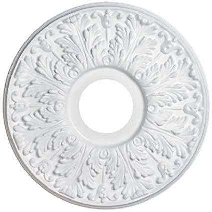 Westinghouse7702800 15 1/2 Inch Victorian White Finish Ceiling Medallion