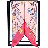 Silk Scarf Women, 100% Mulberry Silk Scarf Square for Hair 14MM Twill for Women 35''x35'' (Pink)