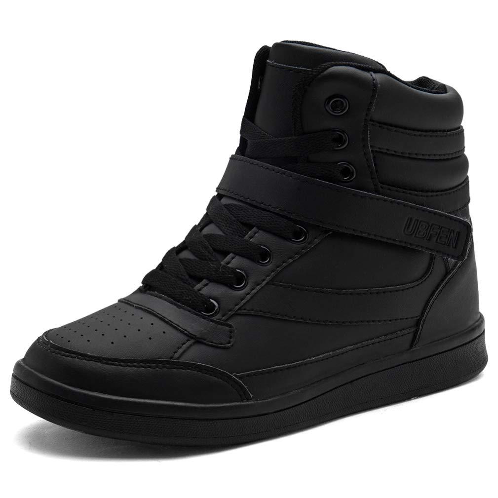 3cb3c8d7949 UBFEN Women's Shoes Hidden Wedges 5.5cm Fashion Sneakers Ankle Boots Bootie  Platform Heel High Top Casual Sports Black 6.5 B(M) US