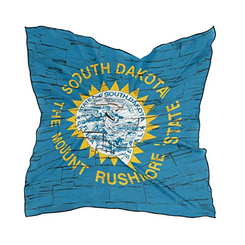 Golf South Dakota Ball (Distressed South Dakota State Flag Women's Square Scarf Neck Head Scarf 23.6 x 23.6 inches with 10 bobby pins)