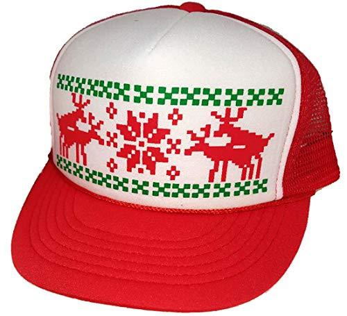 Humping Sex Reindeer Ugly Sweater Mesh Trucker Hat X Mas -