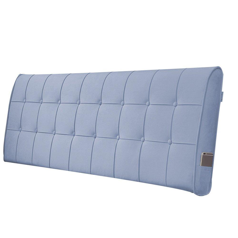 PENGFEI クッションベッドの背もたれ ベッドサイドソフトパック 大バックピロー シングル/ダブル 読書 衝突回避 枕カバーは取り外し可能で洗濯可能です 2仕様、 4色、 5サイズ (色 : Blue without headboard, サイズ さいず : 120CM) B07F5973P5 120CM Blue without headboard Blue without headboard 120CM