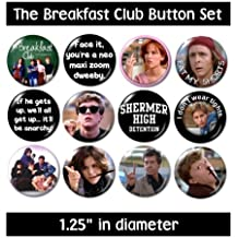 the BREAKFAST CLUB BUTTONS pins badges 80s movie john hughes ringwald nelson shermer