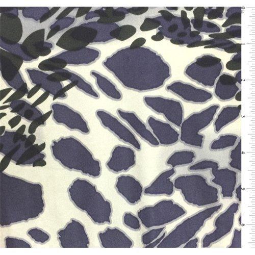 Purple Print Silk Jersey Knit, Fabric By the - Fabric Jersey Silk Knit