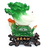 GL&G Chinese cabbage Lucky Crafts Home Decorations large living room office Tabletop Scenes Ornaments Collectible High-end Business gift,281732CM