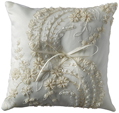 Beverly Clark Venetian Elegance Collection Ring Pillow - Ivory - Beverly Clark Ring Pillow