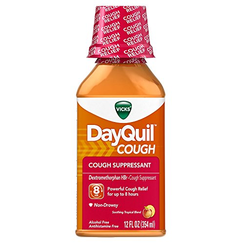 Vicks DayQuil Cough Relief Liquid Fruit - 12 oz, Pack of 2