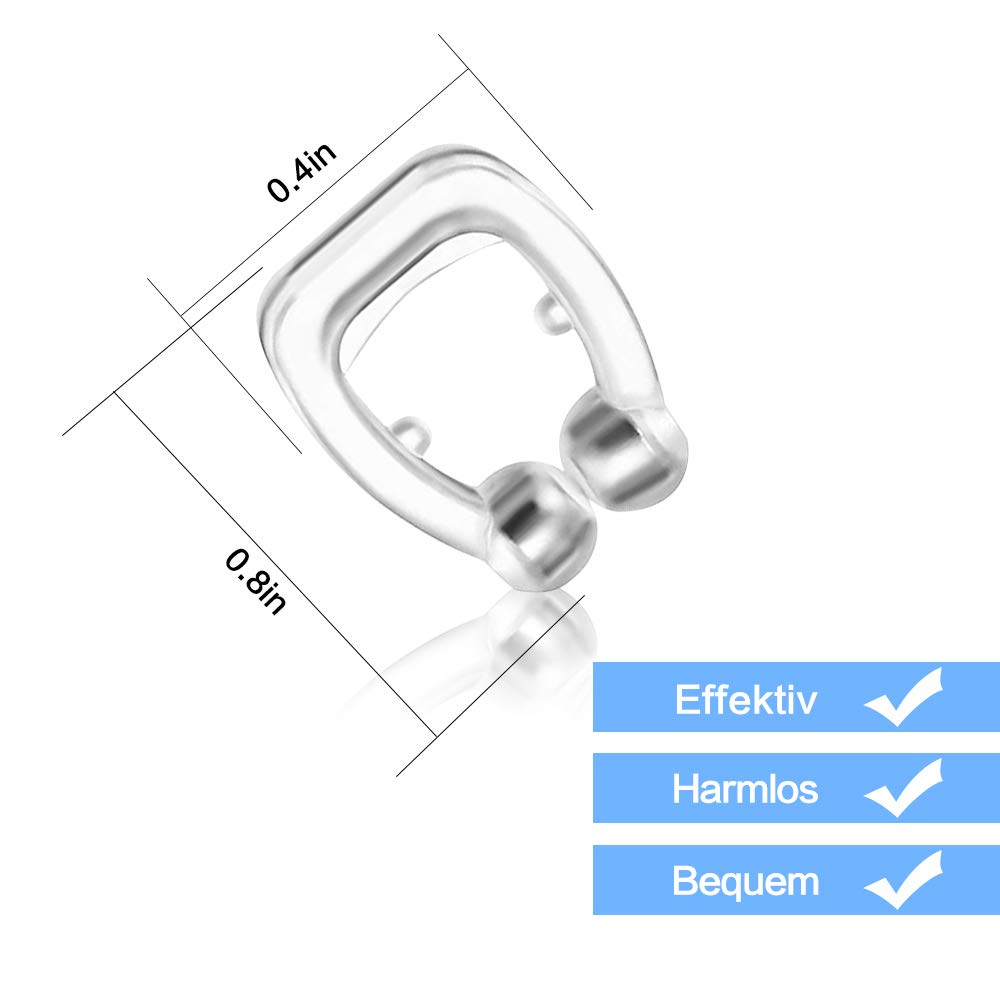 Surepp Magnetic Nose Clip SNORING Ring Effective Solution Stop SNORING Device-IF You Are Suffering from APNEA