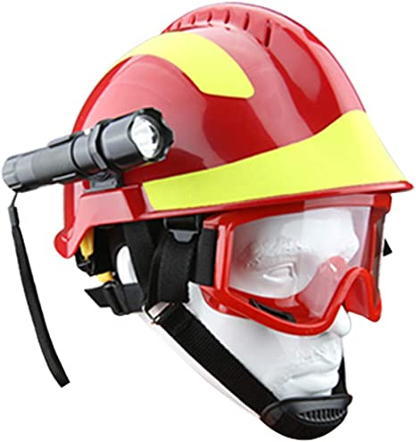 outdoor equipment Casco Exterior ABS Ligero, Casco de protección de Rescate de Escalada de montaña Salvaje, Conjunto de Linterna de Sombrero de ...