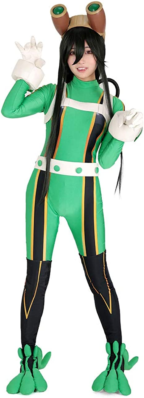 Miccostumes Women S Froppy Tsuyu Asui Cosplay Costume Suit