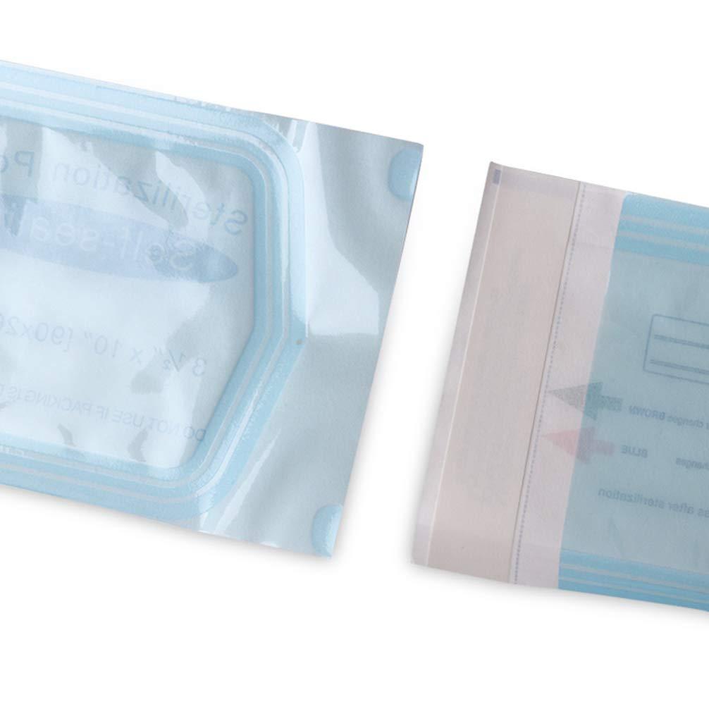 Fydun Sterilisation Beutel 200 St/ück Sterilisationstasche Selbstdichtender Beutel Schnelles und effizientes Verschlie/ßen von 130 x 57 mm 5,12 x 2,24 Zoll