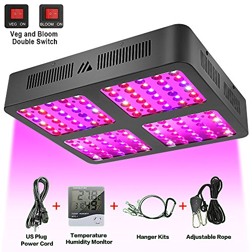 Led Grow Light, 1200W Reflector-Series Full Spectrum LED Grow Light for Indoor Plants Veg and Flower with Veg and Bloom Double Switch (Light Plant Reflector)