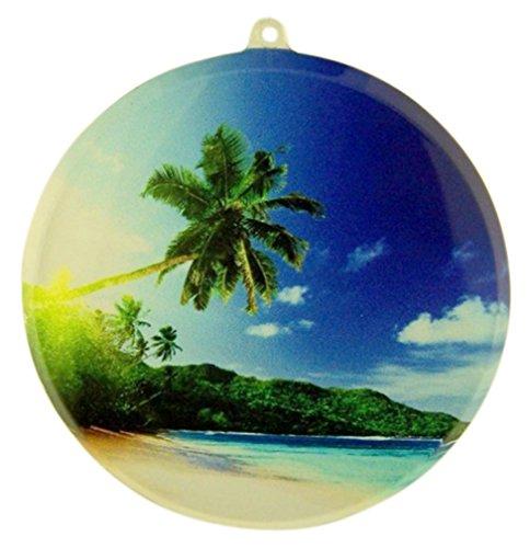 Palm Tree Tropical Beach Arcylic Suncatcher Window Ornament, 3 1/2 Inch