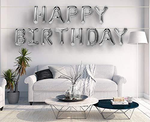 Best-Stuff Silver Aluminum Foil Balloons Banner 16
