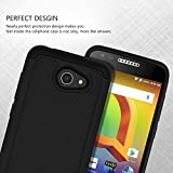 Alcatel A30 Case,ANLI(TM)[Shock Absorption] Drop Protection Hybrid Dual Layer Armor Protective Case Cover for Alcatel A30 (5.0 inch 2017 Released) Black