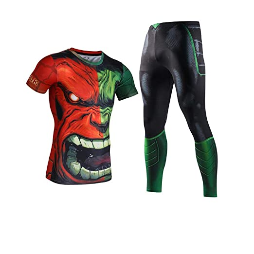 V1 Clothing CO Hulk Fitness Sportswear Avengers Traje ...