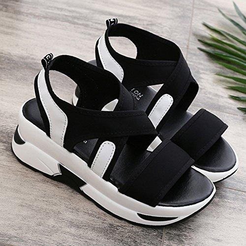 SKY Comfortable to wear it !!! Sandalias de Mujer Casual Sandalias de Plataforma Sandalias Sandalias Negro