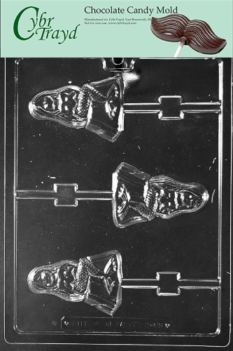 Cybrtrayd N063 Nautical Candy Mold Chocolate, Mermaid Lolly (Nautical Chocolate Molds)