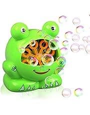 Gifort Automatisch Seifenblasenmaschine für Kinder Weihnacht Kindergeburtstag Geschenk für Hochzeit/ Deko/ Party (AAA Batterie und Seifenblasenwasser nicht enthalten)