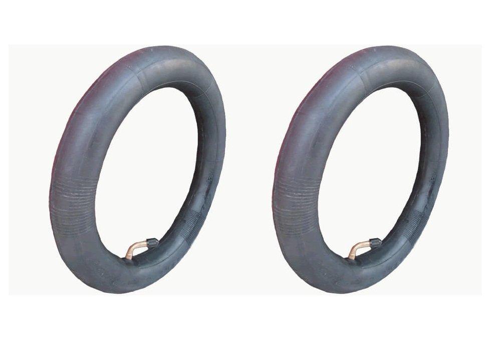 2 x 12,5 Tubo interior para ruedas delantera//trasera v/álvula de /ángulo