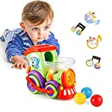 Baby Toys Car 1 2 3 Year Old, Toddler Boy Toys Baby Cars Train Balls, Lights Music, Early Educational Locomotive Train Toy, Gifts 1-2-3 Year Old Boys Girls