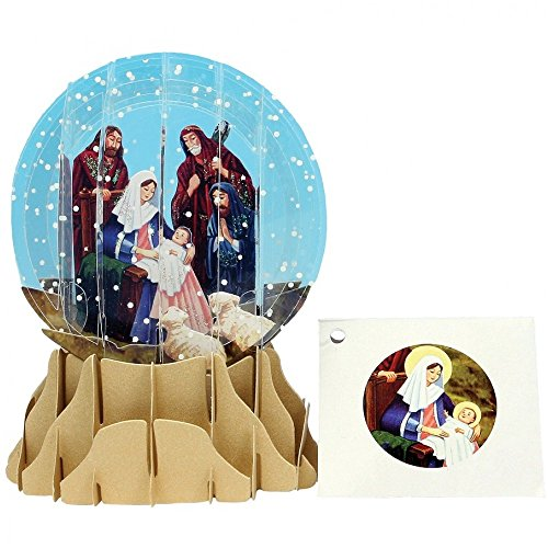 Pop-Up 3D Nativity Greeting Card with Display - Perfect for Display, Gifts, Greetings - (Nativity Display)