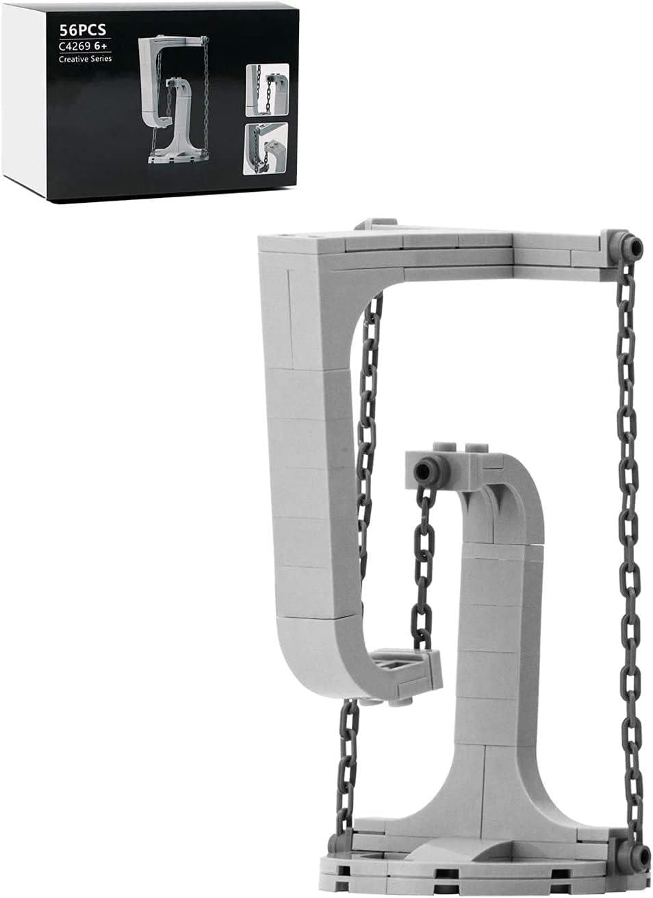 Tensegrity esculturas bloques de construcción antigravedad, nuevo equilibrio físico DIY ladrillos juguetes educación temprana montaje edificio para niños niños regalo - 56pcs