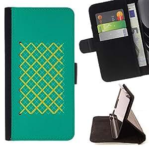 Momo Phone Case / Flip Funda de Cuero Case Cover - Partidos Patrón modelo de las rayas de la turquesa - MOTOROLA MOTO X PLAY XT1562