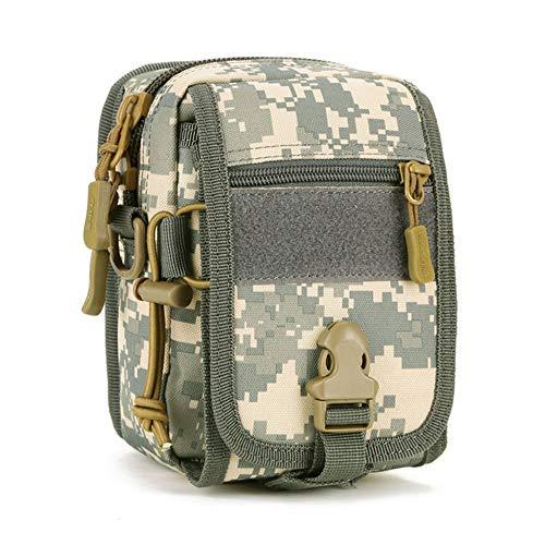 SINAIRSOFT Military Tactical MOLLE Phone Pouch Waist Belt Bag Pack Gear EDC Belt Pouch Messenger Shoulder Saddlebag ACU