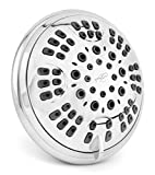 6 Function Luxury Shower Head - Amazing High Pressure, Wall Mount, Adjustable Showerhead - Indoor And Outdoor Modern Bath Spa Fixture - Aqua Elegante - Chrome
