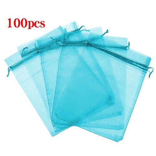 Boshen 100/200PCS Organza Gift Candy Sheer Bags Mesh Jewelry