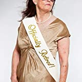 JPACO''Officially Retired!'' Sash - Retirement Sash for Retired Event & Work Party, Novelty Gift for Men and Women