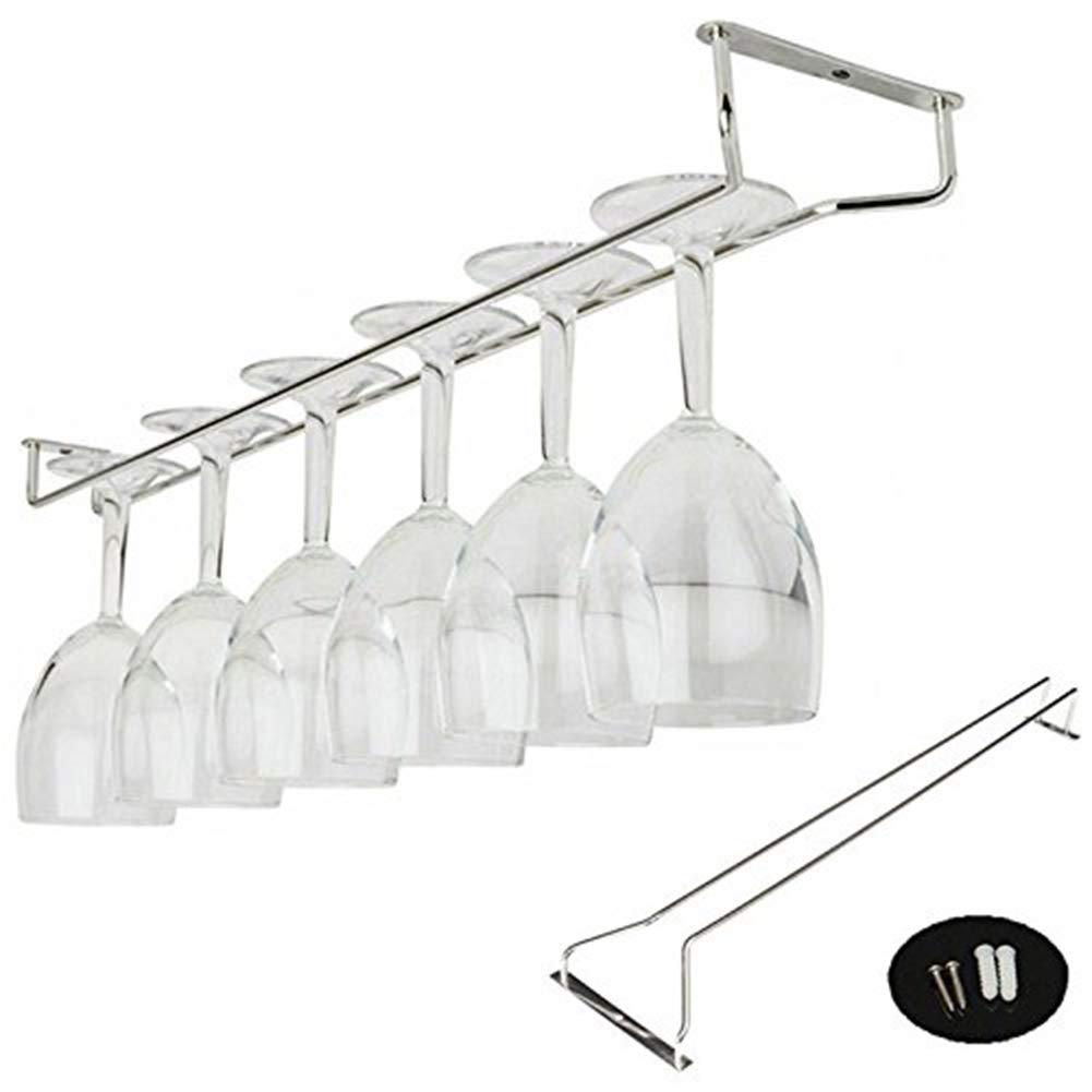 Fangfang Stainless Steel Wine Glass Hanger Rack, Wall Mounted Wine Rack,Under Cabinet Stemware Rack (13 Inch)