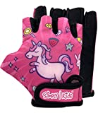 Kids Biking Gloves for Balanced Bike Mountain Bicycle| Breathable Fingerless Kids Cycling Gloves with Extra Protective Cushions | CPSIA Certified Riding Gloves for Girl Boy Child Toddler Youth