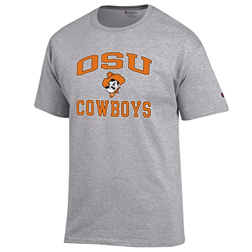 Champion NCAA Men's Shirt Short Sleeve Officially Licensed Team Color Tee, Oklahoma State Cowboys, ()