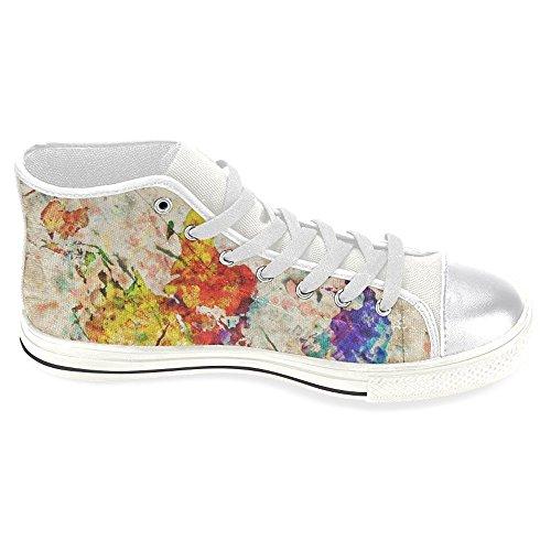 Interestprint Femmes Haut Haut Classique Casual Toile Chaussures De Mode  Formateurs Sneakers Coloré Gribouillis ... 3dc6cf42b2c1