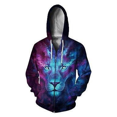 yanghuakeshangmaoyouxiangong 3D Wolf/Lion Chaqueta Digital con ...