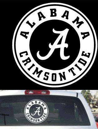 Alabama A Car Decals