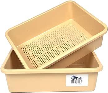 tfsg Caja de Arena para Gatos Cubierta de la Caja de la litera de ...
