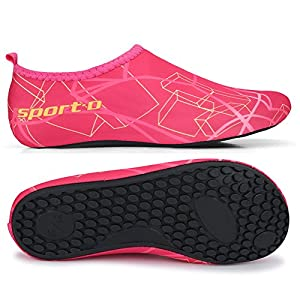 L-RUN Keen Water Shoes Women Barefoot Skin Shoes for Run Dive Surf Pink S(W:5.5-6)