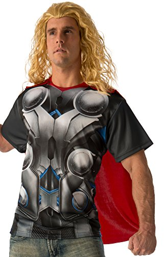 Men's Thor T-Shirt And Cape Set Avengers 2 Costume