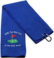 Dad Golf Gift Golf Towel for Dad Father's Day Gift Novelty Golfing Gift Fore The Best Dad In The Hole World