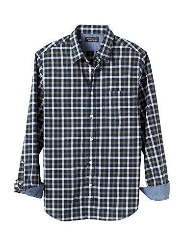 banana-republic-mens-soft-wash-tailored-slim-fit-long-sleeve-button-down-shirt-medium-green-plaid
