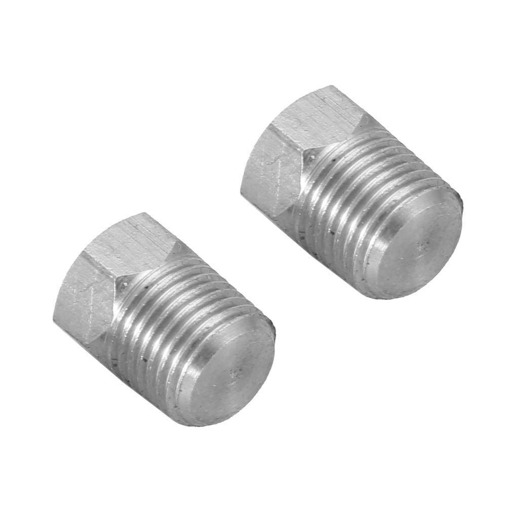 FidgetGear 1pc//2pc Stainless Steel Cast Pipe Fitting Male Thread Hex Head Plug Class NPT Male Thread Qty One Size
