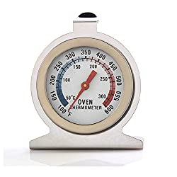 Coohole New Home Food Meat Dial Stainless Steel Oven Thermometer Temperature Gauge (Silver)