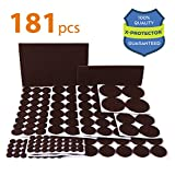 Tools & Hardware : X-PROTECTOR Premium ULTRA LARGE Pack Felt Furniture Pads 181 piece! Felt Pads Furniture Feet ALL SIZES – Your Best Wood Floor Protectors. Protect Your Hardwood Flooring with 100% Satisfaction!