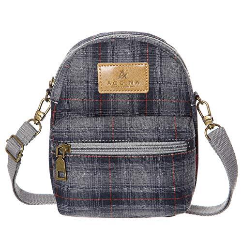 - AOCINA Small Crossbody Bag Cell Phone Purse Pouch Mini Shoulder Bag(Grey)