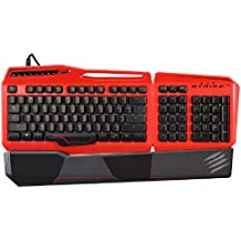 Mad Catz S.T.R.I.K.E.TE Tournament Edition Mechanical Gaming Keyboard for PC -Gloss Red